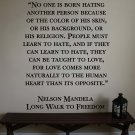 """Nelson Mandela Classroom Educational Quote Vinyl Wall Sticker Decal 42""""h x 32""""w"""