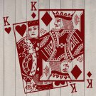 "King of Hearts and Diamonds Playing Cards Vinyl Wall Sticker Decal 44""h x 43""w"