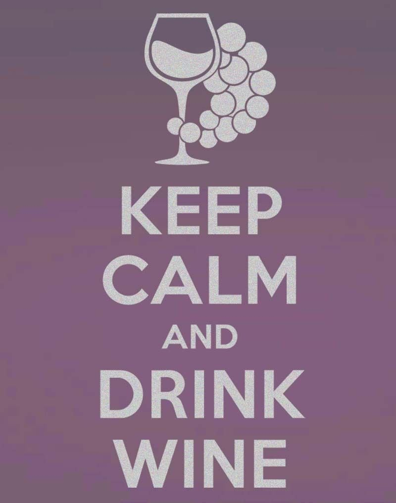 """Keep Calm Drink Wine Frosted Etched Glass Vinyl Wall Sticker Decal 37""""h x 16""""w"""
