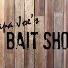 "Custom Bait Shop Vinyl Wall Quote Sticker Decal 15""h x 40""w"