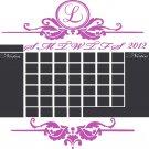 Chalkboard Monthly Office 2018 Calendar Vinyl Wall Sticker