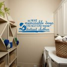 "Dirtiest Clothes Laundry Room Vinyl Wall Quote Sticker Decal 57""w x 22""h"