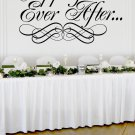 "Happily Ever After Wedding Wall Decor Vinyl Sticker Decal 30""h x 50""w"