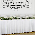 "Happily Ever After Wedding Wall Decor Vinyl Sticker Decal 22""h x 60""w"