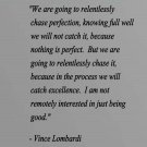 """Vince Lombardi Football Vinyl Wall Quote Sticker Decal 48""""h x 45""""w"""