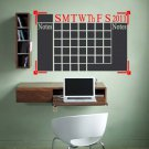 "Chalkboard Monthly 2018 Office Calendar Vinyl Wall Sticker Decal 24""h x 37""w"