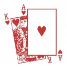 King and Ace of Hearts Playing Cards Vinyl Wall Sticker Decal