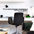 """Nelson Mandela Classroom Educational Quote Vinyl Wall Sticker Decal 5.5""""h x 40""""w"""