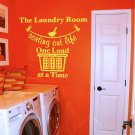 """Sorting Out Life Laundry Room Vinyl Wall Quote Sticker Decal 38""""w x 29""""h"""