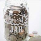 "Make your own SWEAR JAR Etched Glass Vinyl Sticker Decal 3.75""h x 6""w"