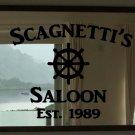 "Custom Family Nautical Ship Wheel Saloon Vinyl Wall Sticker Decal 22""h x 34""w"