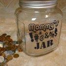 """Mommy Daddy SWEAR JAR Vinyl Sticker Decal 5""""h x 5""""w"""