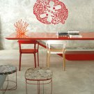 """Chinese FISH Koi Vinyl Wall Sticker Decal Feng Shui Spa 22""""h x 30""""w"""
