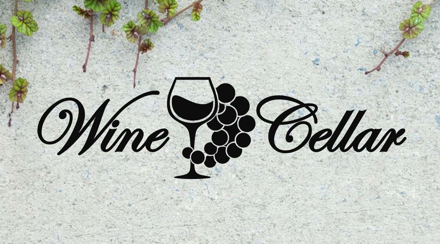 "Wine Cellar Quote Vinyl Wall Sticker Decal 6""h x 22""w"