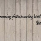 """Knute Rockne Courage Notre Football Wall Quote Vinyl Sticker Decal 7""""h x 40""""w"""