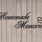 "Homemade Memories with Chef Hat Kitchen Wall Vinyl Sticker Decal 11.5""h x 36""w"