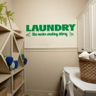 "Laundry Room the Never Ending Story Vinyl Wall Quote Sticker Decal 42""w x 11""h"