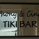 "Custom Tiki Bar Martini Vinyl Wall Quote Sticker Decal 11""h x 36""w"