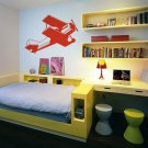 Airplane Vinyl Wall Sticker Decal Kid's Boy's Room 33 in w x 22 in h
