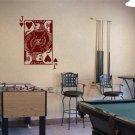 JACK of HEARTS Playing Card Poker Blackjack Vinyl Wall Sticker Decal