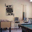 KING of SPADES Playing Card Poker Blackjack Vinyl Wall Sticker Decal