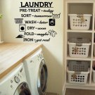 "Laundry Room Wash Dry Fold Iron Vinyl Wall Quote Sticker Decal 24""w x 22""h"