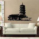 Asian Pagoda Buddhist Temple Vinyl Wall Sticker Decal