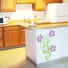 Hibiscus 3 ft Floral Scroll Room Design Vinyl Wall Sticker