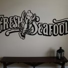 FRESH SEAFOOD Lobster Vinyl Wall Sticker Decal