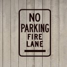 "No Parking Fire Lane Sign Wall Quote Vinyl Sticker Decal 12""h x 18""w"