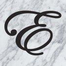 "Custom Edwardian Script Wedding Letter Vinyl Sticker Decal 44""h"