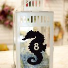 "Seahorse Beach Wedding Table Numbers 1-10 Vinyl Sticker Decals 4""h"