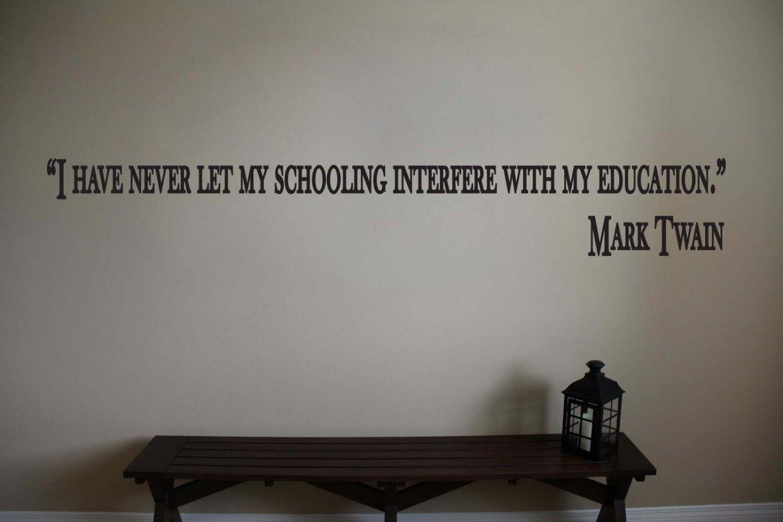 mark twain classroom education quotes vinyl wall sticker decals