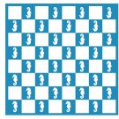 "Seahorse Chess & Checker Game Board Vinyl Sticker Decal 20""h x 20""w"