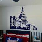 "Capitol Building Washington DC Senate Vinyl Wall Sticker Decal 22""h x 30""w"