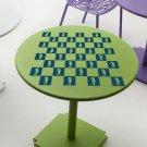 """Seahorse Beach Chess & Checker Game Board Vinyl Sticker Decal 20""""h x 20""""w"""