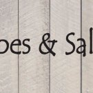 """Sandy Toes & Salty Kisses Beach Wall Quote Vinyl Sticker Decal 4""""h x 37""""w"""