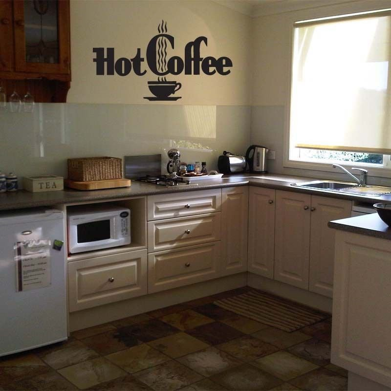 HOT COFFEE Kitchen Vinyl Wall Sticker Decal