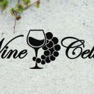 "Wine Cellar Quote Vinyl Wall Sticker Decal 10.5""h x 36""w"