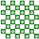 "Make Your Own Beach Shell Chess & Checker Game Board Vinyl Sticker Decal 18""h"