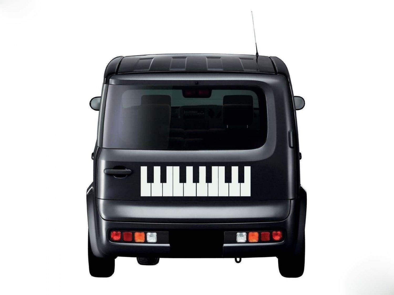 Piano Keyboard Keys Musical Instrument Vinyl Wall Sticker Decal