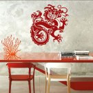 "Chinese DRAGON Vinyl Fantasy Wall Sticker Decal 22""h x 22""w"