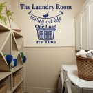 "Sorting Out Life Laundry Room Vinyl Wall Quote Sticker Decal 22""w x 17""h"