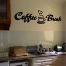 "Coffee Break Wall Quote Vinyl Sticker Decal 6""h x 22""w"