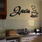"Java Coffee Wall Quote Vinyl Sticker Decal 10.5""h x 22""w"