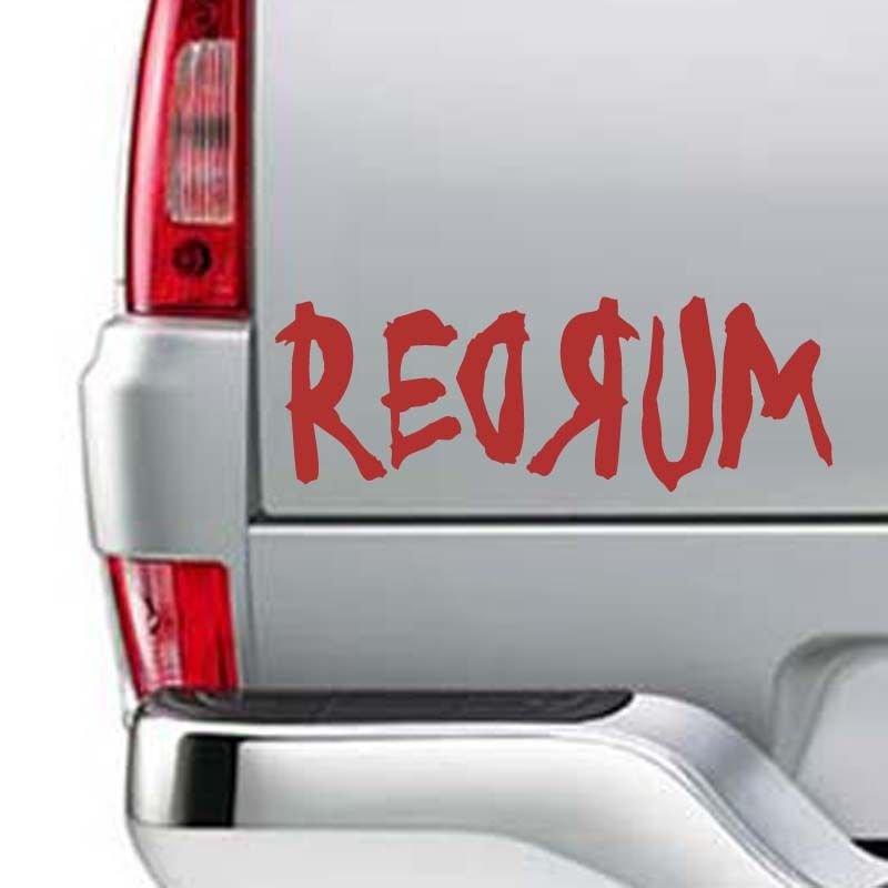 "REDRUM Shining Murder Kill Horror Death Vinyl Sticker Decal 7""h x 16""w"
