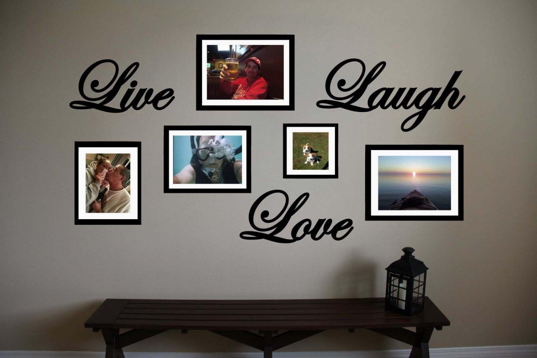 "Live Love Laugh Vinyl Wall Sticker Decal 12""w"