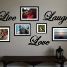 "Live Love Laugh Vinyl Wall Sticker Decal 12""w"