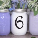 "Wedding Table Numbers 1-20 Centerpiece Vinyl Sticker Decals (3""h Numbers) (e)"