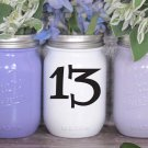 """Wedding Table Numbers 1-20 Centerpiece Vinyl Sticker Decals (3""""h Numbers) (a)"""